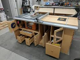 table saw router combo table saw router station finally done by coachgut lumberjocks