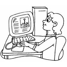 making report on computer coloring page