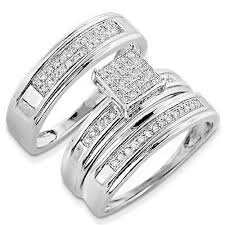 Trio Wedding Ring Sets by Wedding Rings Sets For Him And Her Wedding Promise Diamond