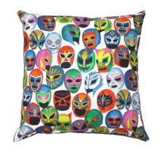 day of the dead home decor lucha libre mexican art day of the dead throw pillow