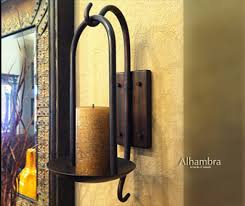 Decorative Wall Sconces Tuscan Decor Tuscan Alhambra Iron Wall Sconce Candle Holder Tuscan