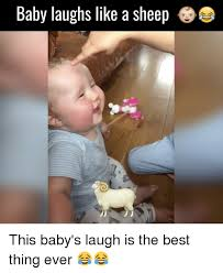 Laughing Baby Meme - baby laughs like a sheep a i this baby s laugh is the best thing