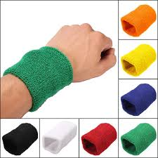 sweat bands unisex sports cotton wrist sweatbands wrap tennis badminton