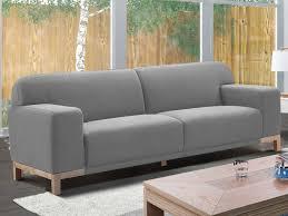 vente canapé canapé 3 places en tissu moderne obrian gris clair pas cher prix