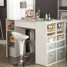 counter table with storage south shore crea counter height craft table with storage buy now