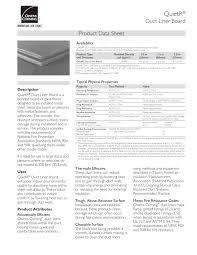 quietr duct liner board owens corning insulation pdf