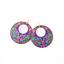 mardi gras earrings fair trade earrings vavavida