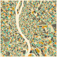 Map Of Budapest Budapest Map Digital Art By Jazzberry Blue