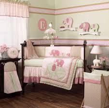 Green Elephant Crib Bedding Cocalo S Elephant Pink And Green Nursery Bedding