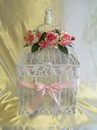 Shabby Chic Wedding Decoration Ideas by Birdcage Wedding Card Holder Wedding Card Box Glam Pink