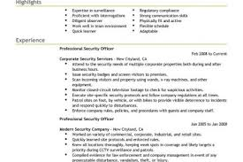 Security Guard Sample Resume by Government Security Resume Sample Reentrycorps