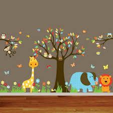 Animal Wall Mural For Nursery Room Decor Wallpaper Mural Ideas - Kids room wallpaper murals