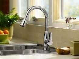 kohler simplice kitchen faucet modern kitchenucets distinctive best with grey metal doubleucet
