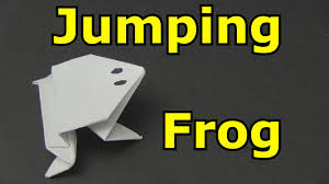how to make a paper frog that jumps high and far youtube
