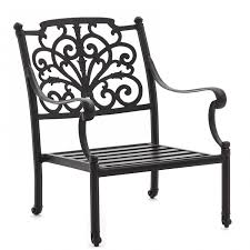 Patio Furniture Cove - evangeline cast aluminum patio club chair by lakeview outdoor