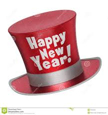 new year s tops 3d render of a happy new year top hat stock illustration