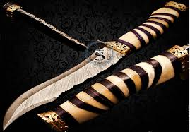 hand made damascus steel hunting bowie knife s17 019 u2013 safitechs