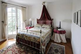 french country master bedroom custom panel brown patterned bedroom
