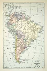 Colombia South America Map by 1918 Print Map South America 1914 Brazil Bolivia Colombia Ecuador