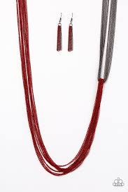 red chain necklace images Paparazzi accessories no chain no gain red jpg