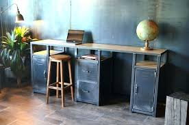 bureau industriel bureau bois metal writingtrue co