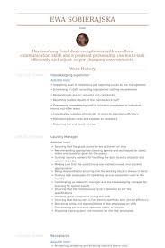 Nanny Housekeeper Resume Sample by Housekeeping Supervisor Resume Template Design