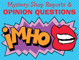 mystery shopper reports and opinion questions u2014 mystery shopper u0027s