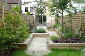 Rear Garden Ideas Terrace Garden Ideas Planted With Various Of Plants And Trees