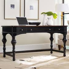 Slaters Furniture Modesto by Hooker Furniture Home Office Black Writing Desk With Turned Legs