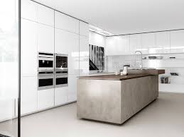 cuisine comprex contemporary kitchen wood veneer island lacquered filo by
