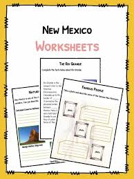 new mexico facts worksheets u0026 historical information for kids