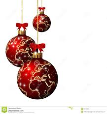 world christmas christmas glass balls with world pattern white background stock