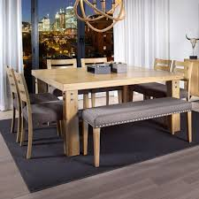 square dining table with bench canadel loft custom dining customizable square dining table set