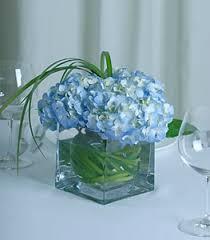 Hydrangea Centerpiece Blue Hydrangea Centerpiece