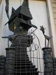 a nightmare before christmas house sculpture by the haunted