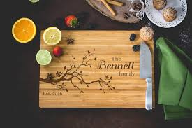 personalized cutting board wedding personalized bamboo cutting board family tree custom cutting