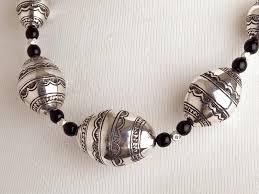 big necklace silver images Large silver beads necklace ifam online jpg