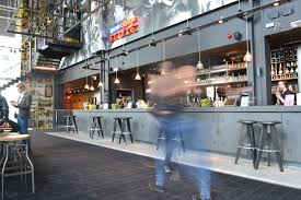 everyman cinema leeds concrete bar counter top and cladding with