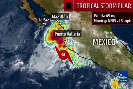 Mexico Weather Map by Tropical Storm Pilar On Track To Hit Puerto Vallarta U2013 Las Vegas