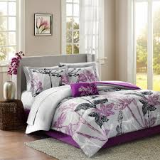 Black And Purple Bed Sets Madison Classics Kendall 9 Piece Complete Bed Set