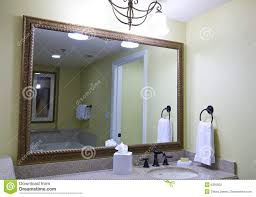 large mirror above sink stock photography image 6431592