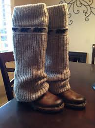 womens knit boots sorel cable s wedge rib knit sweater brown leather