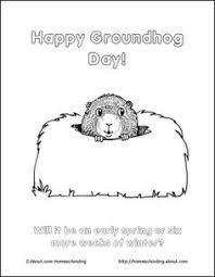 groundhog coloring fun february 2nd
