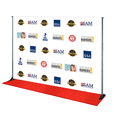 step and repeat backdrop themed step and repeat backdrop for