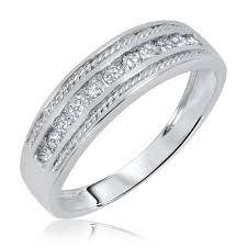 www weddingring lk 1 3 8 carat diamond trio wedding ring set 14k white gold