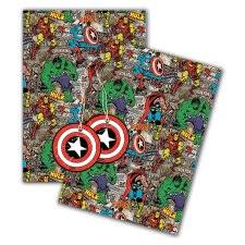 marvel wrapping paper wrapping paper gift tags