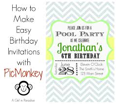 how to make invitations how to make birthday invitations in easy way birthday party