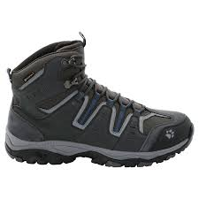 jack wolfskin mens mountain storm texapore mid boots moroccan blue