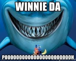 Shark Attack Meme - winnie da poooooooooooooooooooooooh rook shark attack meme generator