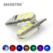 10x newest t10 194 168 w5w 6smd 5730 car led silicone shell auto